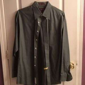 Men Nordstrom long sleeve collared shirt 17 1/2 35